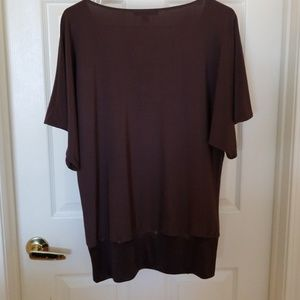Express Tops - EXPRESS CHOCOLATE BROWN BLOUSE SIZE L